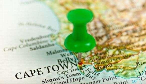 Landkarte-Südafrika