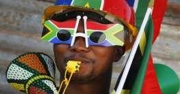 Südafrikanischer Fußballfan